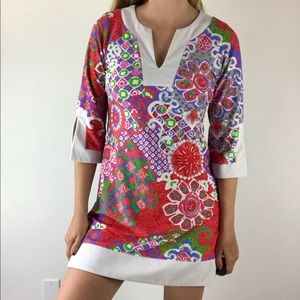 JUDE CONNALLY Holly Floral Abstract Tunic Dress XS